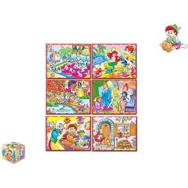 Kocka puzzle 20 darabos készlet - többféle