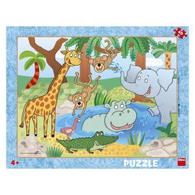 Puzzle 40 db - állatkert