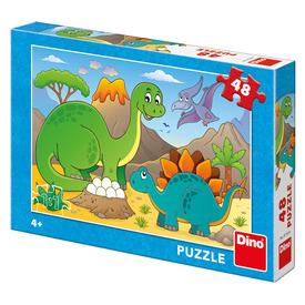 Puzzle 48 db - Dínók