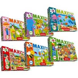 Maxi 16 darabos puzzle - többféle