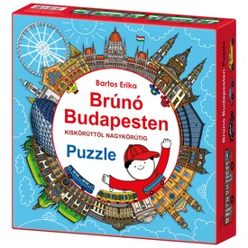 Brúnó Budapesten 121 darabos puzzle