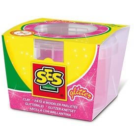 SES csillogó gyurma - rózsaszín, 90 g