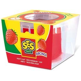 SES gyurma eper illattal - piros, 90 g