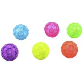Csillámos pattogó világító labda - 7 cm, többféle