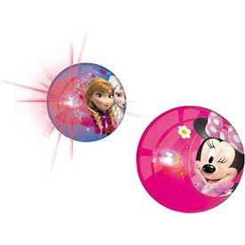 Disney világító pattogó labda - 10 cm, többféle