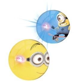 Minion világító pattogó labda - 10 cm, többféle