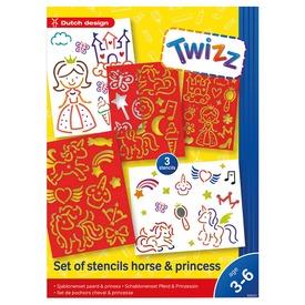 Rajzozó sablon szett - lovak és hercegnők