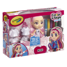Crayola Colour n Style Dolls Deluxe Rose