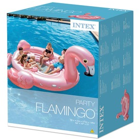 Intex 57267 Flamingó party sziget 422x373x185 cm