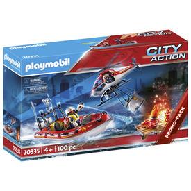 Play. Tűzoltók helikopterrel és csónakkal