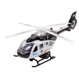Fém rendőrségi helikopter - 21 cm