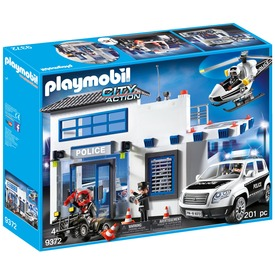Playmobil Rendőr kapitányság autóval 9372