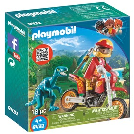 Playmobil Cross motor és raptor dínó 9431