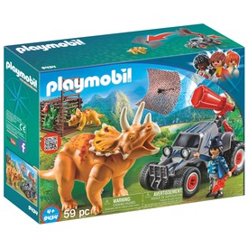 Playmobil Négykerekű járgány dínó fogó hálóval 9434