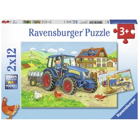 Dolgos mindennapok 2 x 12 darabos puzzle