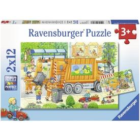 Kukásautó 2 x 12 darabos puzzle