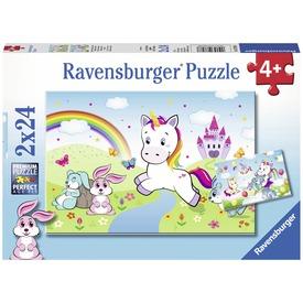 Csodás unikornisok 2 x 24 darabos puzzle