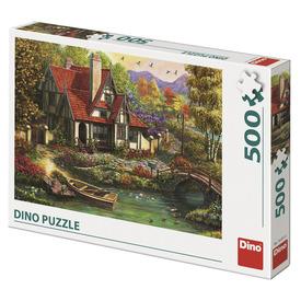 Puzzle 500 db - Ház a tónál
