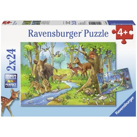 Az erdő állatai 2 x 24 darabos puzzle