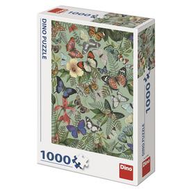 Puzzle 1000 db - lepkék