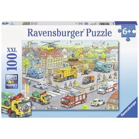 Városi járművek 100 darabos XXL puzzle