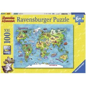 Föld körüli utazás 100 darabos XXL puzzle