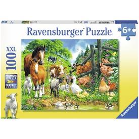 Állati buli 100 darabos XXL puzzle