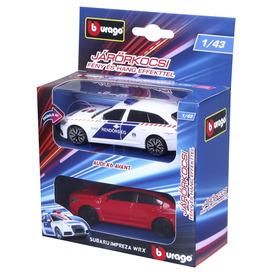 Bburago 1 /43 - Audi A6 rendőrautó és üldözöttje (Subaru Impreza)