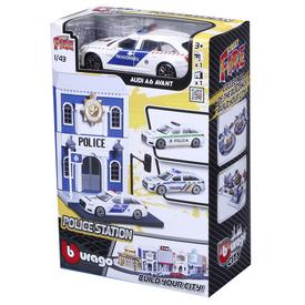 Bburago city 1 /43 - Audi A6 rendőrautó és rendőrörs