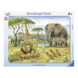 Puzzle 30 db - Afrikai állatvilág