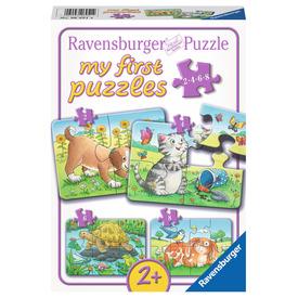 Puzzle 2 /4 /6 /8 db - Háziállatkák