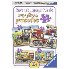 Puzzle 2 /4 /6 /8 db - Munkagépek