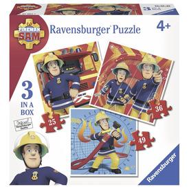 Puzzle 3in1 - Tűzoltó Sam