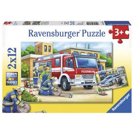 Puzzle 2x12 db - Rendőrség és tűzoltóság