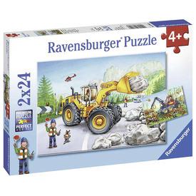 Puzzle 2x24 db - Erdész traktor