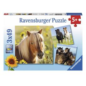 Puzzle 3x49 db - Szépséges lovak