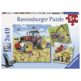Puzzle 3x49 db - Óriási gépek