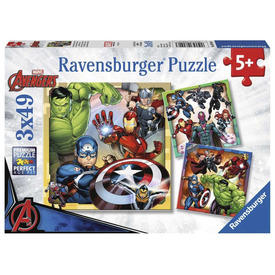Puzzle 3x49 db - Marvel hősök
