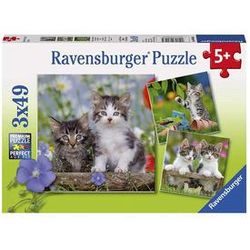Puzzle 3x49 db - Édes kiscicák