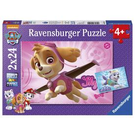 Puzzle 2x24 db - Mancs Őrjárat, Skye és az Everest