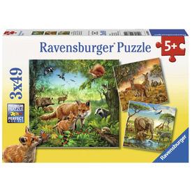 Puzzle 3x49 db - Az erdő lakói