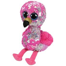 Pinky flamingó flitteres plüssfigura - 15 cm