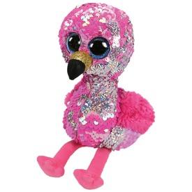 Pinky flamingó flitteres plüssfigura - 24 cm