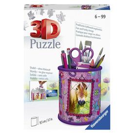 Puzzle 3D 54 db - Ceruzatartó lovak