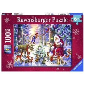 Puzzle 100 db - Erdei karácsony