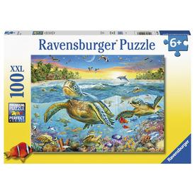 Puzzle 100 db - Teknősök találkozója