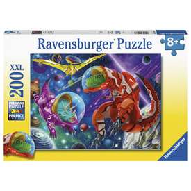 Puzzle 200 db - Dínók az űrben