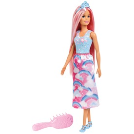 Barbie Dreamtopia varázslatos hercegnő +fésű FXR