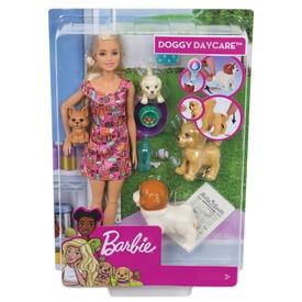 Barbie kutyus napközi készlet babával - 29 cm