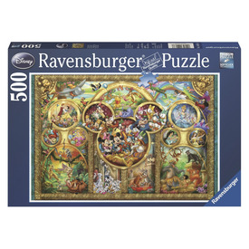 Puzzle 500 db - Disney család